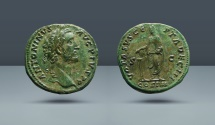 Ancient Coins - ROMAN EMPIRE. Antoninus Pius. 138-161 AD. AE Sestertius