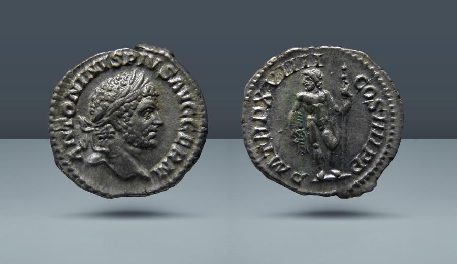 Ancient Coins - Caracalla. 198-217 AD. Rome, c. 216. AR Denarius