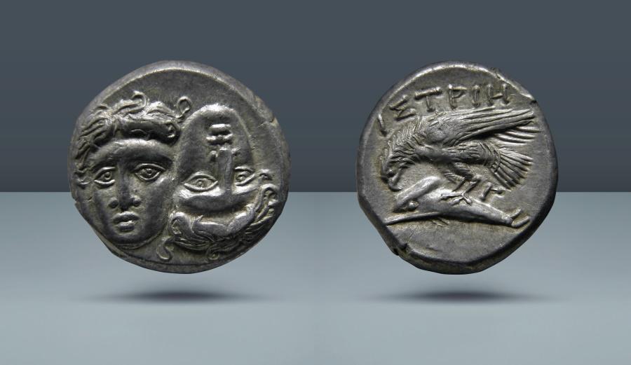 Ancient Coins - MOESIA, Istrus. c. 4th Century BC. AR Drachm