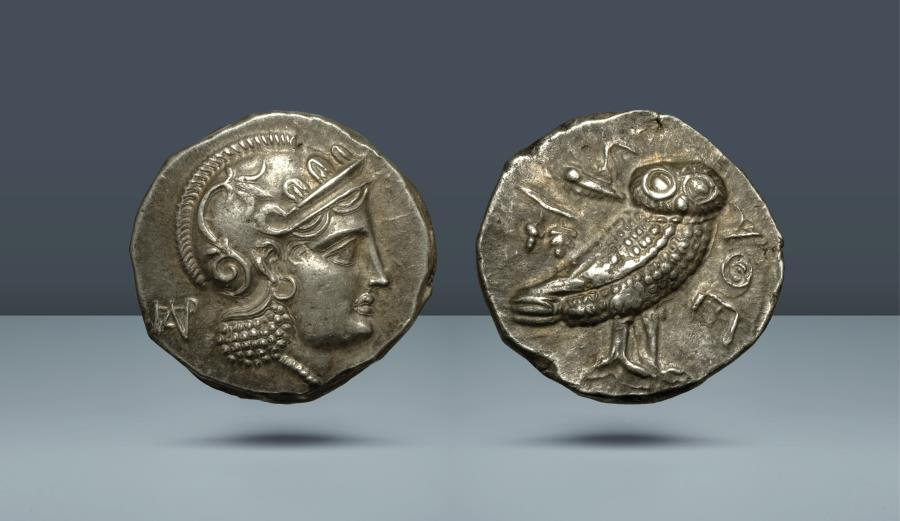 Ancient Coins - Parthia(?), 'Athenian Series'. Hekatompylos(?). c. 246/5-239/8 BC. AR Didrachm. From the 1960s Andragoras-Sophytes Group, in Germany in 1975, subsequently exported to the USA
