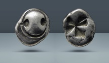 Ancient Coins - BOEOTIA, Thebes. c. 525-480 BC. AR Drachm. Purchased from Schulman, Amsterdam in the 1970's