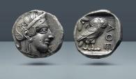 Ancient Coins - ATTICA, Athens. AR Tetradrachm