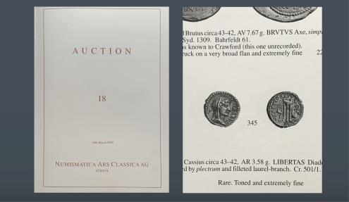 Ancient Coins - ROMAN REPUBLIC. L. Sestius. Moving mint with Brutus, c. 43/2 BC. AR Denarius. Ex NAC, 29 March 2000, lot 345