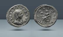 Ancient Coins - Julia Paula, Augusta and Wife of Elagabalus. 219/20 AD. Rome. AR Denarius