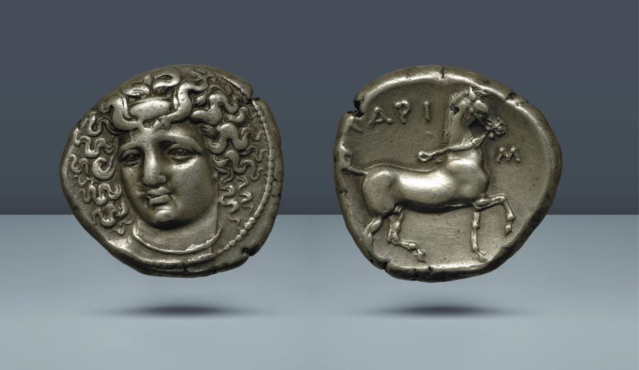 Ancient Coins - THESSALY, Larissa. 350-325 BC. AR Tetradrachm