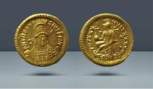 Ancient Coins - Theodosius II. 402-450 AD. Constantinople, c. 430-440 AD. AV Solidus
