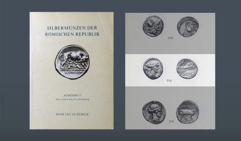 Ancient Coins - ROMAN REPUBLIC. T.Carisius IIIVIR. Rome, 46 BC. AR Denarius. Ex Bank Leu 3 May 1977 (Nicholas), lot 719. Ex Lanz 5 Dec 1983, 396. Ex Leo Benz Collection, Lanz, 23 Nov 1998, 237