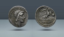Ancient Coins - ROMAN REPUBLIC. Q. Cassius Longinus. Rome, c. 55 BC. AR Denarius. From the E.E. Clain Stefanelli Collection