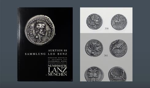 Ancient Coins - ROMAN REPUBLIC. M. Fan C.F. Rome, 123 BC. AR Denarius. Ex Kricheldorf 12 Nov 1973, lot 242. Ex Leo Benz Collection, Lanz, 23 Nov 1998, lot 358