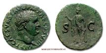 Ancient Coins - Titus AE AS 80-81 AD S C Spes Roman coin for sale