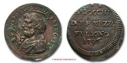 World Coins - Papal States PIUS VI SAMPIETRINO DA 2,5 BAIOCCHI 1796 FOLIGNO RARE (R) papal coin