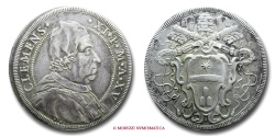 World Coins - PAPAL STATES CLEMENT XI PIASTRA A. XV RARE (R) papal coin