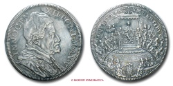 World Coins - PAPAL STATES INNOCENT XII PIASTRA 1696 A V papal coin