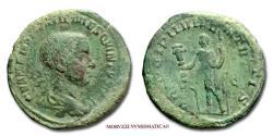 Ancient Coins - Hostilian Caesar SESTERTIUS 251 AD PRINCIPI IVVENTVTIS / S C 30/70 RARE (R) Roman coin for sale