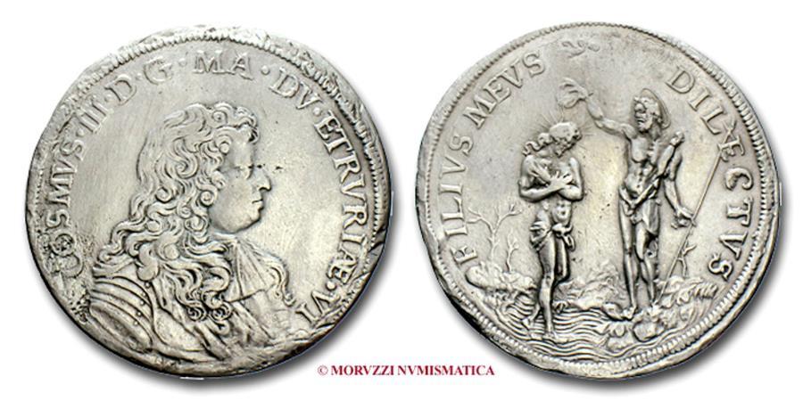 Grand duchy of tuscany cosimo iii de 39 medici piastra 1676 for Coin firenze