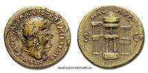 Ancient Coins - Nero AE DUPONDIUS 64 AD MAC AVG S C Macellum Magnum RARE (R) Roman coin for sale