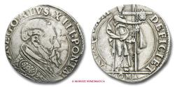 World Coins - Papal States Gregory XIII TESTONE SILVER RARE (R) papal coin