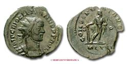 Ancient Coins - Diocletian AE ANTONINIANUS 290-292 AD CONSERVAT AVGGG S-P/ MLXXI Hercules Londinium VERY RARE (RRR) Roman Imperial coin for sale