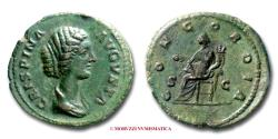 Ancient Coins - Crispina AE DUPONDIUS 177-192 AD CONCORDIA / S C (RIC 675/S) Roman Imperial coin for sale