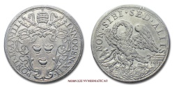 World Coins - Papal States INNOCENT XII 1/2 PIASTRA 1693 A III papal coin