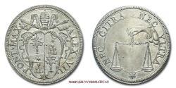 World Coins - Papal States Alexander VII TESTONE SILVER papal coin