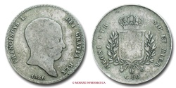 World Coins - Kingdom of the Two Sicilies Francis I of the Two Sicilies 60 GRANA 1826 Naples SILVER RARE (R)