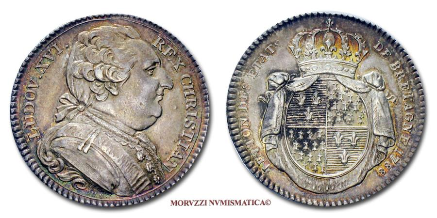 World Coins - Louis XVI of France Silver Token 1778 Brittany SCARCE French token for sale