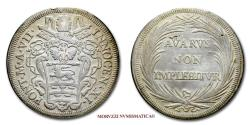 World Coins - INNOCENT XI 1/2 PIASTRA A VII AVARVS NON IMPLEBITVR SILVER 30/70 Papal coin for sale