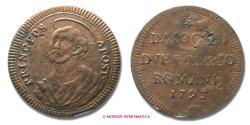 World Coins - Papal States PIUS VI 2,5 BAIOCCHI ROMANI 1795 RARE (R) papal coin