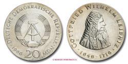 World Coins - German Democratic Republic 20 Marks 1966 Gottfried Wilhelm Leibniz Berlin SILVER World coin for sale
