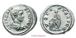 Ancient Coins - GETA DENARIUS 203-208 AD VOTA PVBLICA near UNCIRCULATED roman coin