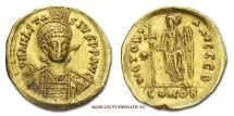 Ancient Coins - Anastasius I Dicorus Solidus 491-518 AD VICTORIA AVGGG-B CONOB Constantinople GOLD Byzantine coin for sale