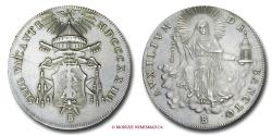 World Coins - PAPAL STATES VACANT SEES 1823 SCUDO ROMANO 1823 BOLOGNA RARE (R) papal coin