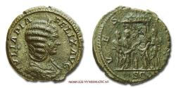 Ancient Coins - Julia Domna AE AS 211-217 AD VESTA / S C 53/70 VERY RARE (RR) Roman coin for sale