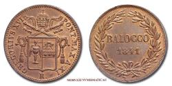 World Coins - Gregory XVI BAIOCCO 1841 A XI 64/70 Papal coin for sale