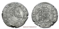World Coins - Kingdom of Naples Charles V Holy Roman Emperor 1/2 DUCATO (Half Silver Ducat) 50/70 Italian coin for sale
