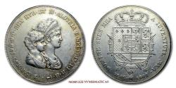 World Coins - Charles Louis (Louis II of Etruria) and Maria Louisa Duchess of Lucca DENA 1807 Florence SILVER 45/70 Italian coin for sale
