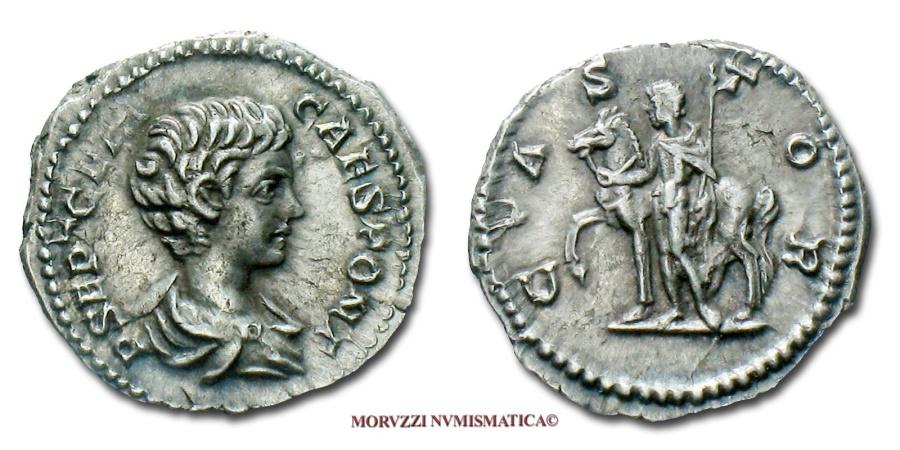Ancient Coins - GETA DENARIUS 200-202 AD CASTOR RARE (R) roman coin