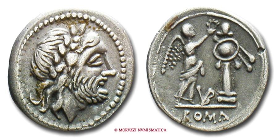 Ancient Coins - GENS VIBIA VICTORIATUS 211-208 b.C. RARE (R)