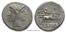 Ancient Coins - ROMANO-CAMPANIA DIDRACHM 225-212 b.C.