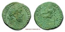 Ancient Coins - Commodus SESTERTIUS 187-188 AD P M TR P XIII IMP VIII COS V P P S C FOR RED Roman coin for sale