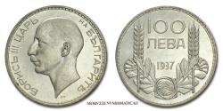 World Coins - Bulgaria Boris III 100 LEVA 1937 Budapest SILVER 65/70 World coin for sale