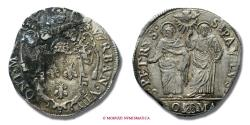 World Coins - Papal States Urban VIII TESTONE AN I SILVER papal coin