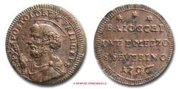 World Coins - Papal States PIUS VI SAMPIETRINO DA 2,5 BAIOCCHI 1796 SAN SEVERINO RARE (R) papal coin