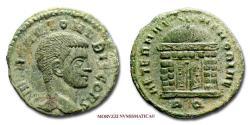 Ancient Coins - Valerius Romulus SMALL BRONZE  308-310 AD AETERNAE MEMORIAE / RQ 55/70 RARE (R) Roman coin for sale