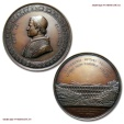 World Coins - Papal States PIUS IX MEDAL 1854 Construction of the bridge of Ariccia UNCIRCULATED RARE (R) papal medal