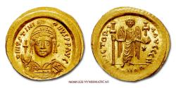 Ancient Coins - Justinian the Great Solidus 537-542 AD VICTORIA AVGGG H / CONOB Constantinople GOLD 63/70 Byzantine coin for sale