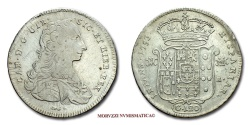 World Coins - Kingdom of Naples Charles III of Spain 120 GRANA 1753 Neaples italian coin
