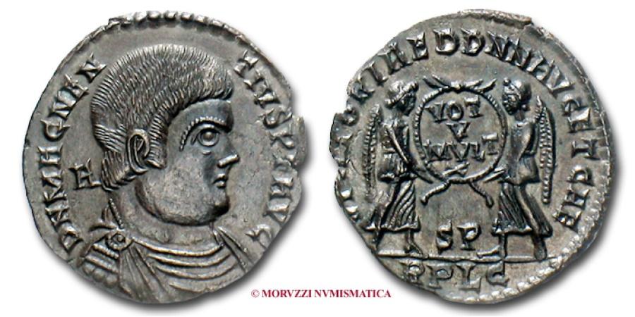 Ancient Coins - MAGNENTIUS MAIORINA 350-353 AD RARE (R) roman coin