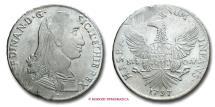 Kingdom of Sicily Ferdinand III (Ferdinand I of the Two Sicilies) 12 TARI' 1797 Palermo SILVER italian coin